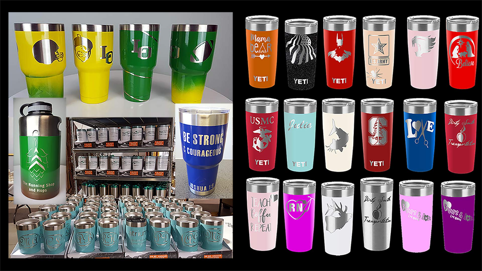 Custom Powder Coated Colored Stainless Tumblers Growlers And Travel